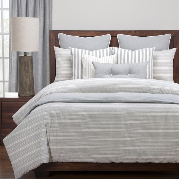 Atlantic 100% Cotton Reversible Duvet Set by Langley Street
